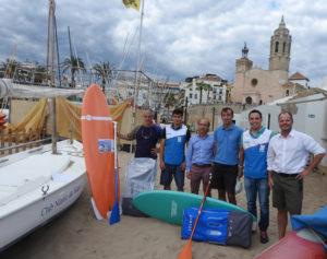 Material cedit per DECATHLON al Club Nàutic de Sitges