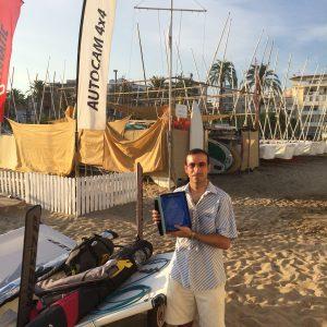Reconocimiento a la constancia a Pere-Andreu Ubach con su WASZP