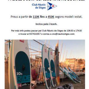 Paddles Surf del Club a la venta