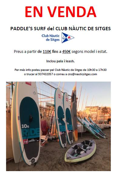 Paddles Surf del Club a la venda